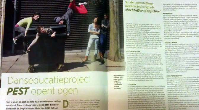 Interview project PEST in Dans Magazine