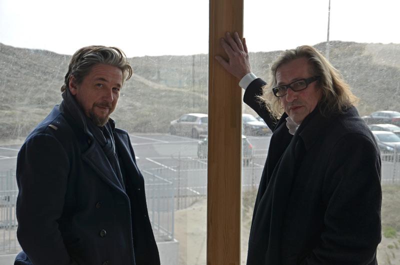 Johan Doesburg (rechts) en Dries Vanhegen. Foto Frans van Hilten