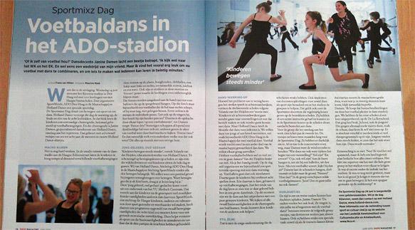 Het artikel in Dans Magazine